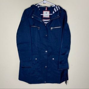 Tommy Hilfiger Jacket Rain Coat Navy Blue White